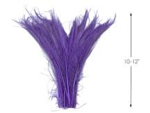 50 Pieces - Lavender Bleached & Dyed Peacock Swords Cut Wholesale Feathers (Bulk)