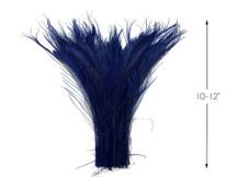 50 Pieces - Navy Blue Bleached & Dyed Peacock Swords Cut Wholesale Feathers (Bulk)