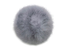 2 Yards - Gray Turkey Medium Weight Marabou Feather Boa 25 Gram