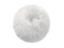 2 Yards - Snow White Turkey Medium Weight Marabou Feather Boa 25 Gram