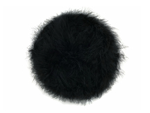 2 Yards - Black Turkey Medium Weight Marabou Feather Boa 25 Gram