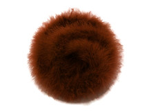 2 Yards - Brown Turkey Medium Weight Marabou Feather Boa 25 Gram
