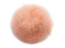 2 Yards - Peach Turkey Medium Weight Marabou Feather Boa 25 Gram