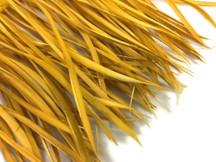 1 Yard - Old Gold Goose Biots Stripped Wing Wholesale Feather Trim