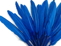 1/4 Lb. - Turquoise Blue Dyed Duck Cochettes Loose Wing Quill Wholesale Feather (Bulk)
