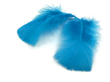 1 Pack - Turquoise Blue Turkey T-Base Plumage Feathers 0.50 Oz.