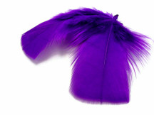 1 Pack - Purple Dyed Turkey T-Base triangle Body Plumage Feathers 0.50 Oz.