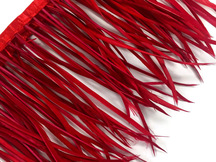 1 Yard - Red Goose Biots Stripped Wing Wholesale Feather Trim