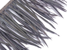 1 Yard - Silver Gray Goose Biots Stripped Wing Wholesale Feather Trim