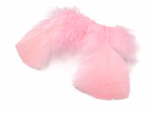 1 Pack - Light Pink Dyed Turkey T-Base triangle Body Plumage Feathers 0.50 Oz.