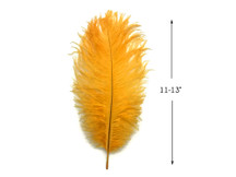 "10 Pieces - 11-13"" Golden Yellow Bleached & Dyed Ostrich Drabs Body Feathers"