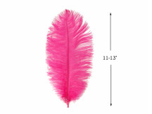 "10 Pieces- 11-13"" Hot Pink Ostrich Dyed Drabs Feathers"