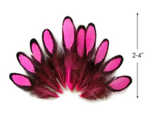 1 Dozen - Hot Pink Whiting Farms Laced Hen Saddle Feathers