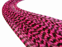 10 Pieces - Hot Pink Thin Long Grizzly Rooster Hair Extension Feathers