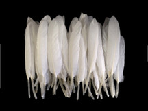 1 Pack - Natural White Duck Cochettes Loose Wing Quill Feather 0.30 Oz.