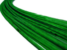 10 Pieces - Solid Kelly Green Thin Long Rooster Hair Extension Feathers