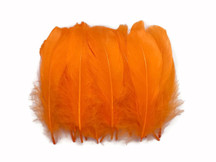 1 Pack - Orange Goose Nagoire Loose Feather - 0.25 Oz.