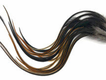 6 Pieces - XL Furnace Thick Long Rooster Hair Extension Feathers