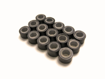 10 Pieces - Dark Brown Silicone Micro Ring Beads For Feather Hair Extensions
