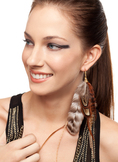Eleanor - Collection Single Feather Earring