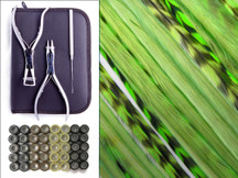 Fresh Lime Duo Pack - Salon Starter Hair Extension Tool Kit With Silicone Beads