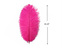 "10 Pieces - 8-10"" Hot Pink Ostrich Dyed Drabs Feathers"