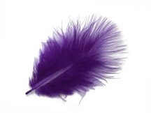 1 Pack - Purple Turkey Marabou Short Down Fluff Loose Feathers 0.10 Oz.