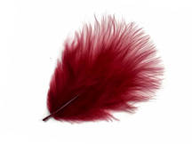 1 Pack - Burgundy Turkey Marabou Short Down Fluff Loose Feathers 0.10 Oz.