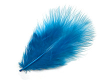 1 Pack - Turquoise Blue Turkey Marabou Short Down Fluff Loose Feathers 0.10 Oz.