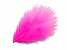 1 Pack - Hot Pink Turkey Marabou Short Down Fluff Loose Feathers 0.10 Oz.