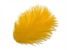 1 Pack - Golden Yellow Turkey Marabou Short Down Fluff Loose Feathers 0.10 Oz.