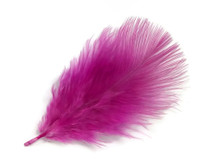 1 Pack - Fuchsia Pink Turkey Marabou Short Down Fluff Loose Feathers 0.10 Oz.