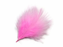 1 Pack - Candy Pink Turkey Marabou Short Down Fluff Loose Feathers 0.10 Oz.