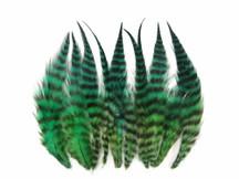 1 Dozen - Short Bluemoon Whiting Farm Rooster Saddle Hair Extension Feather Blendz