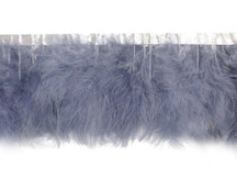 1 Yard - Silver Gray Marabou Turkey Fluff Feather Fringe Trim