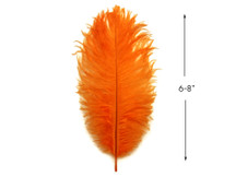 "10 Pieces - 6-8"" Orange Ostrich Dyed Drabs Feathers"