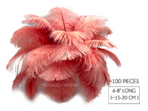 "100 Pieces - 6-8"" Pink Blush Ostrich Drabs Body Wholesale Feathers (Bulk)"