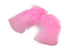 1 Pack - Candy Pink Dyed Turkey T-Base triangle Body Plumage Feathers 0.50 Oz.