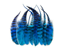 12 Pieces - Mermaid Blendz Short Whiting Farm Rooster Hair Extension Feathers
