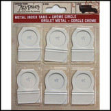 Circle Metal Index Tabs : Creme