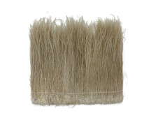 """1/2 Yard - 6-8"""" Bleached Ivory Peacock Flue / Herl Strung Wholesale Feathers (Bulk)"""