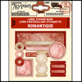 7 Gypsies | Label Sticker Books Romance Pink & Red Scrapbooking Label Tag Kit