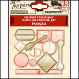 7 Gypsies | Label Sticker Books Francais Vintage Scrapbooking Label Tag Kit