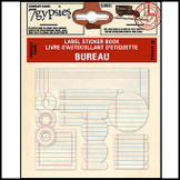 7 Gypsies | Label Sticker Books Bureau Vintage Scrapbooking Label Tag Kit