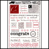 A La Card Rubbings : Congratulations