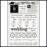 A La Card Rubbings : Wedding