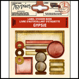 7 Gypsies | Label Stickers Book Vintage Scrapbook Craft Sheet : Gypsies