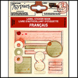 7 Gypsies | Label Stickers Book Vintage Scrapbook Craft Sheet : Francais