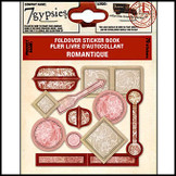 7 Gypsies | Fold over Sticker Books : Romantique Scrapbooking Embellishment Tag