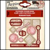 7 Gypsies | Fold over Sticker Books : Romantique Scrapbooking Embellishment Tag